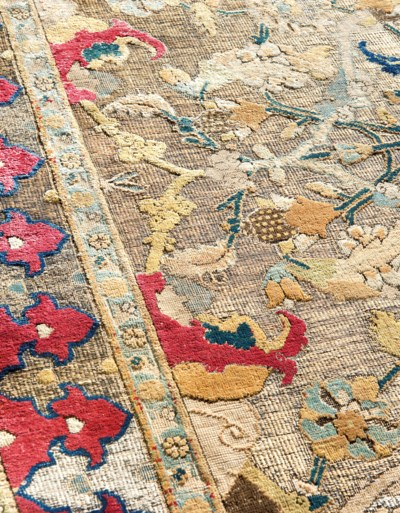 AN IMPORTANT SAFAVID SILK AND